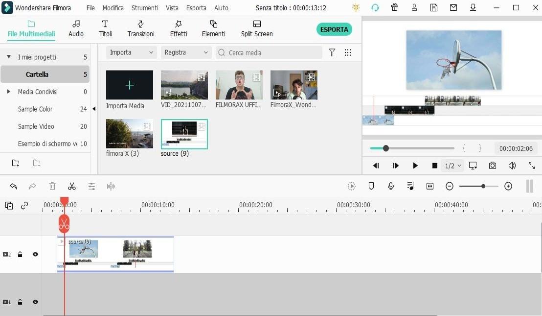 video editor interface