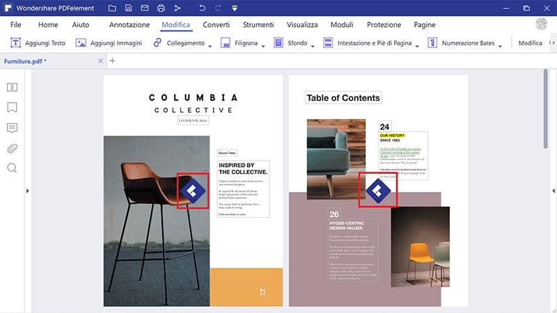 aggiungi logo in pdf online