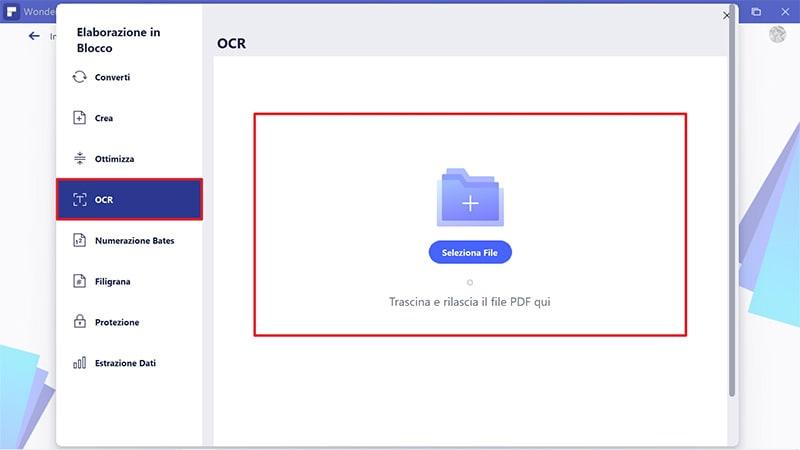 ocr in blocco dei pdf