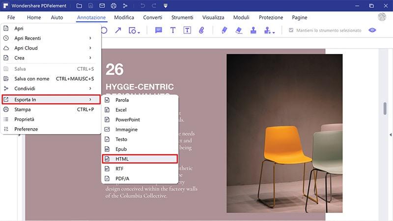 come convertire le immagini png in html