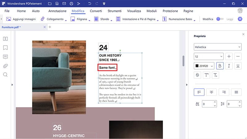 modifica il testo PDF con lo stesso carattere online gratuitamente