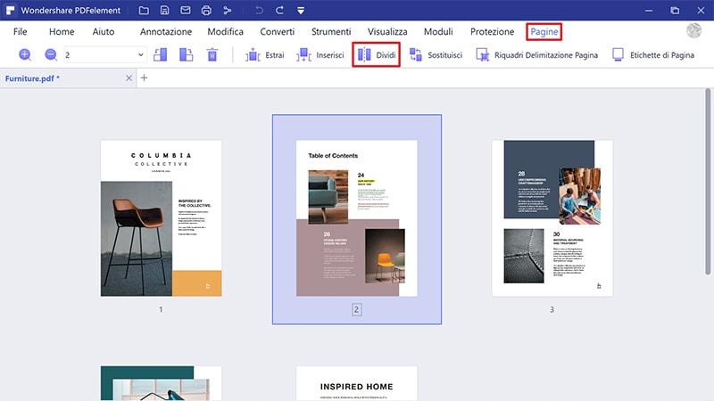 dividere file PDF su Windows
