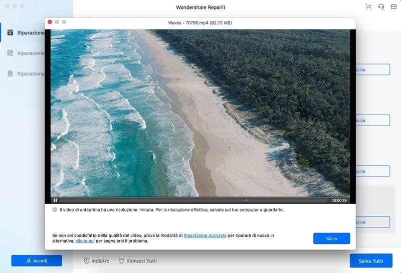 visualizza l'anteprima dei file video su mac